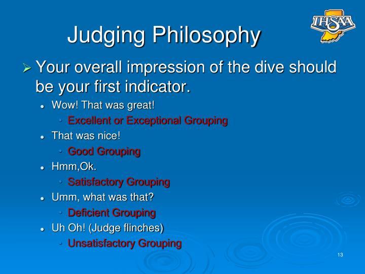 Judging Philosophy