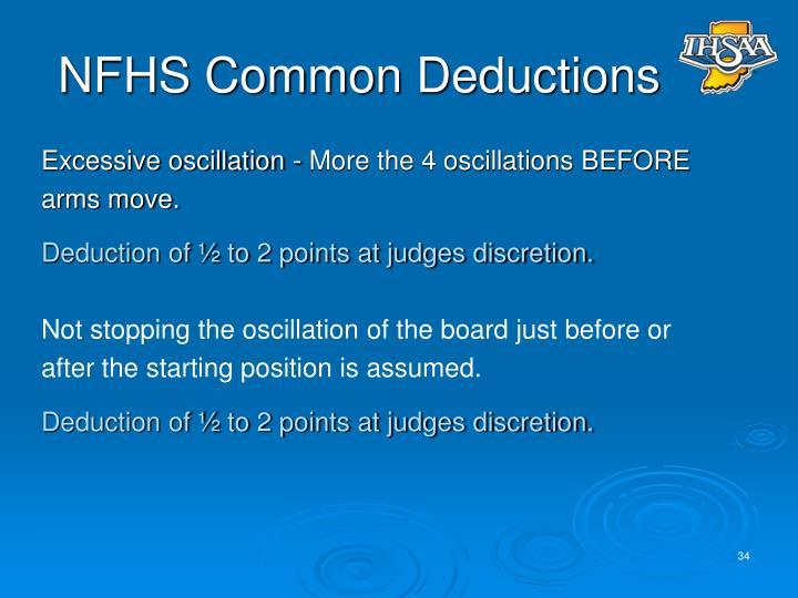 NFHS Common Deductions
