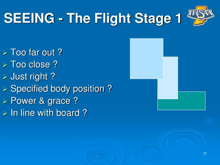 SEEING - The Flight Stage 1