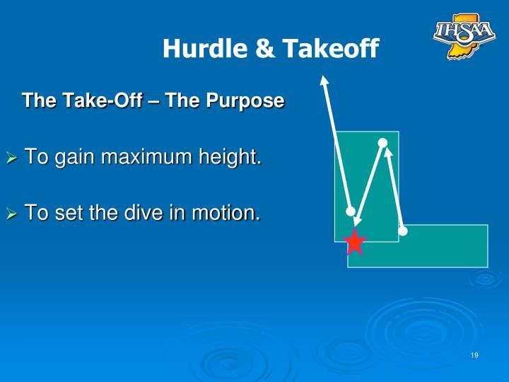 The Take-Off – The Purpose