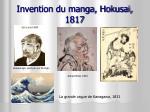 invention du manga hokusai 1817