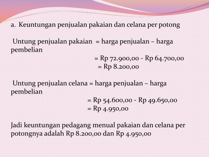 Keuntungan
