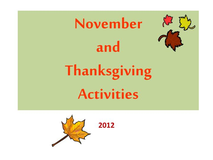 november and thanksgiving activities n.