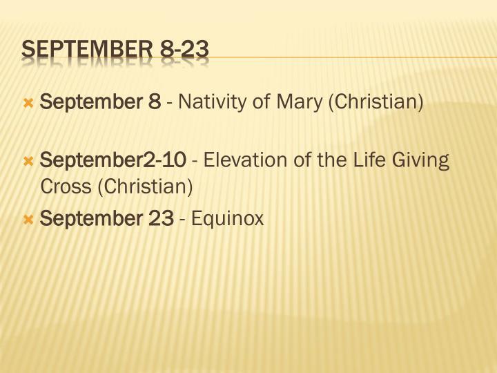 September 8 23