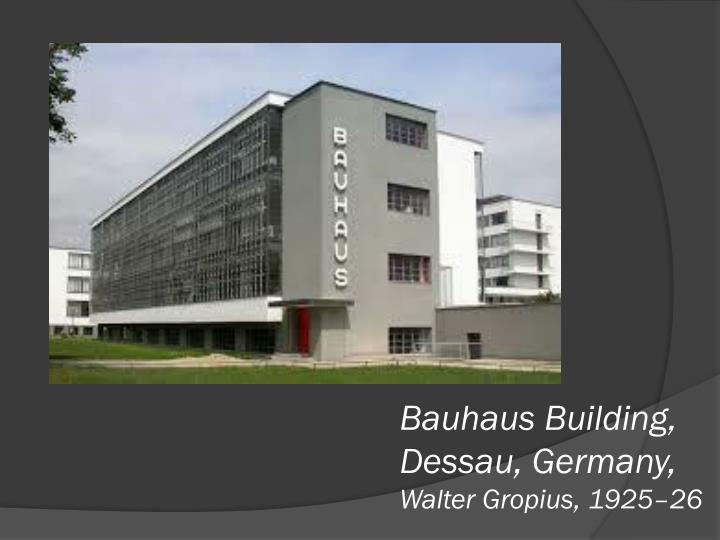 Bauhaus Building, Dessau, Germany,