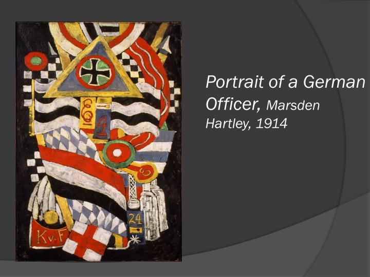 Portrait of a German Officer,