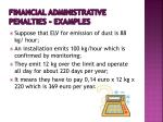 financial administrative penalties examples