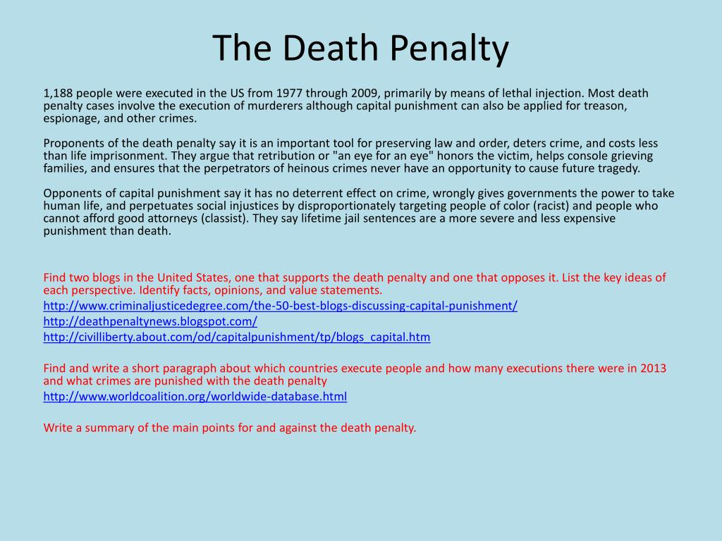PPT - The Death Penalty PowerPoint Presentation - ID:1938298