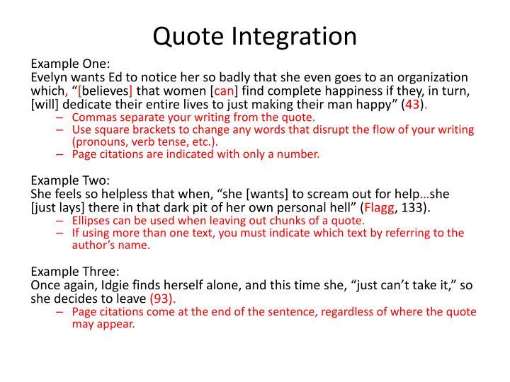 Quote Integration