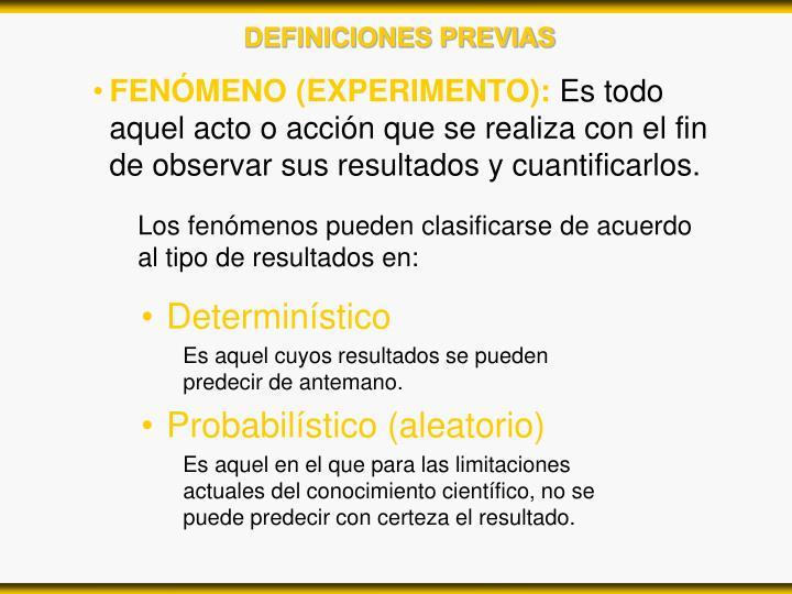 FENÓMENO (EXPERIMENTO):
