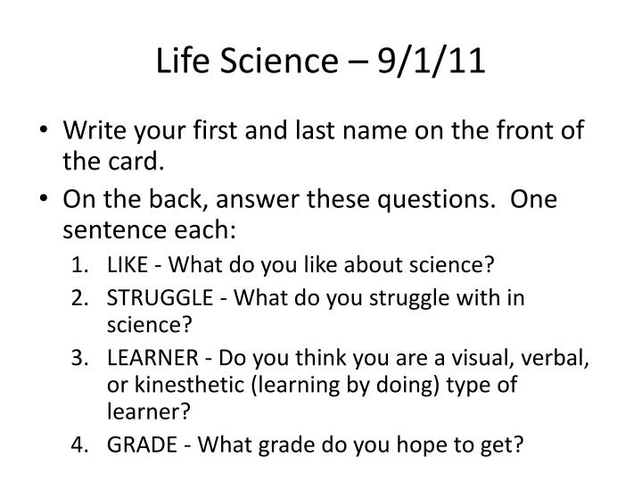 Life science 9 1 11