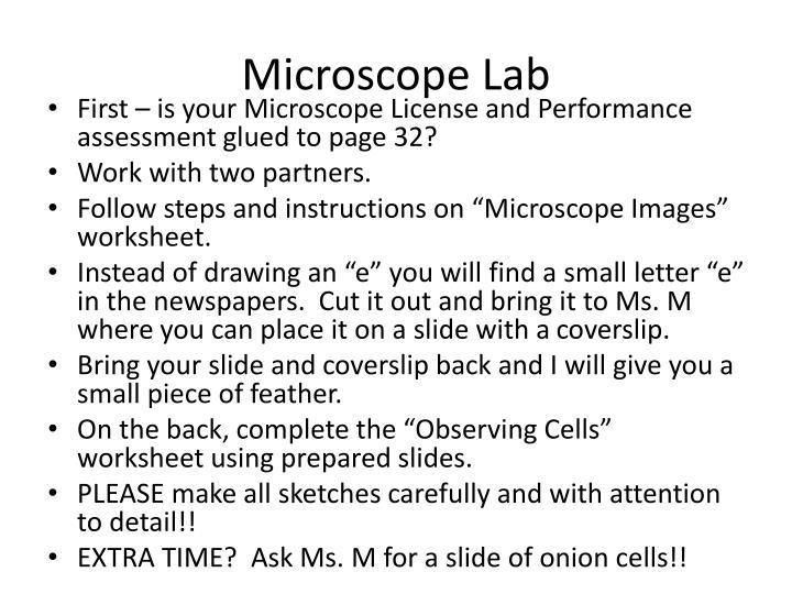 Microscope Lab