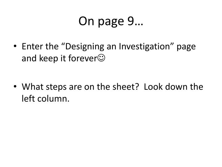 On page 9…