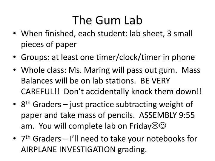 The Gum Lab