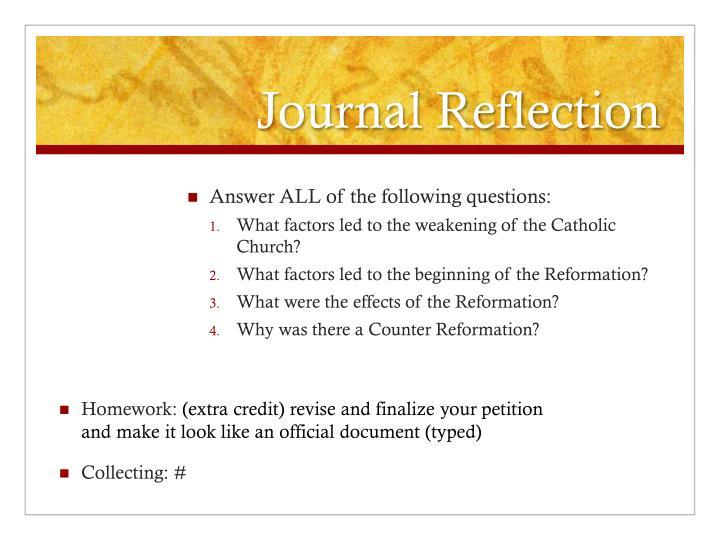 Journal Reflection