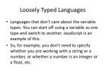 loosely typed languages