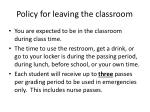 policy for leaving the classroom