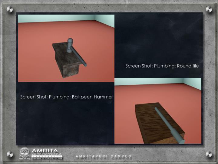 Screen Shot: Plumbing: Round file