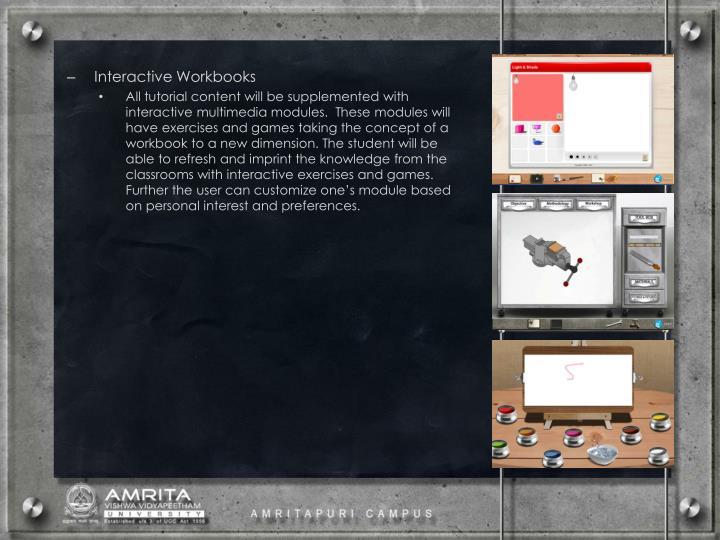 Interactive Workbooks