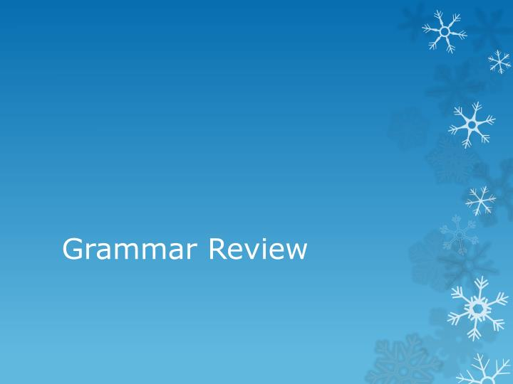 grammar review n.