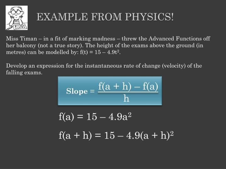 Example from Physics!