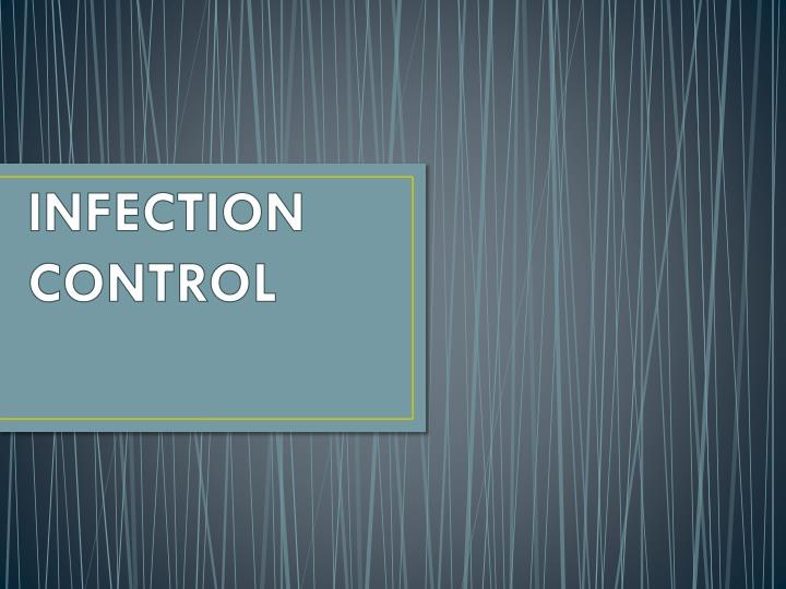 infection control n.