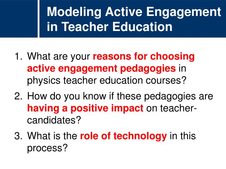Modeling Active Engagement in Teacher Education