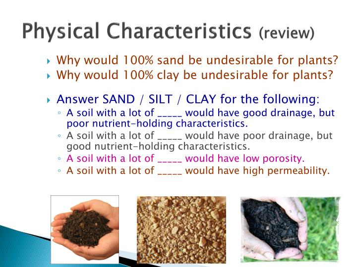 Ppt soil properties a crash course in soils powerpoint for What are soil characteristics