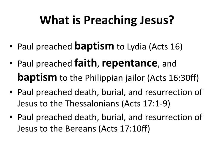 What is Preaching Jesus?