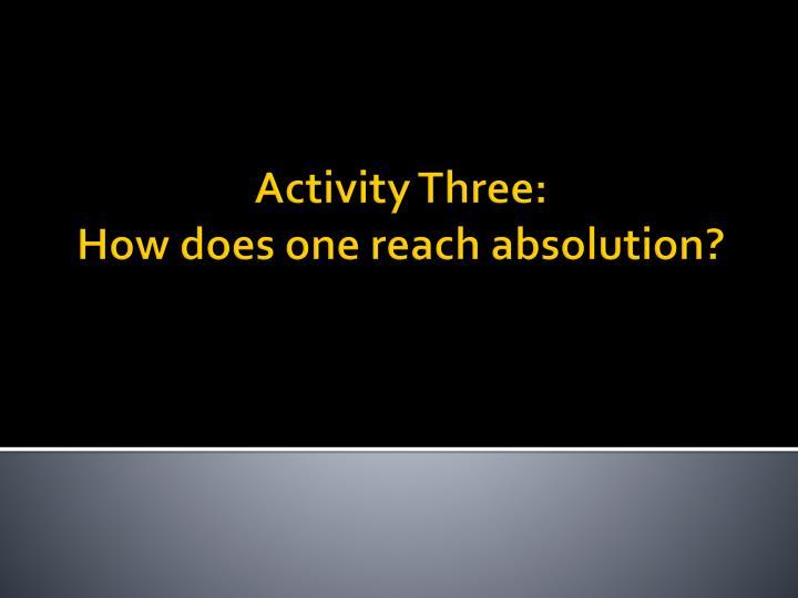 Activity Three: