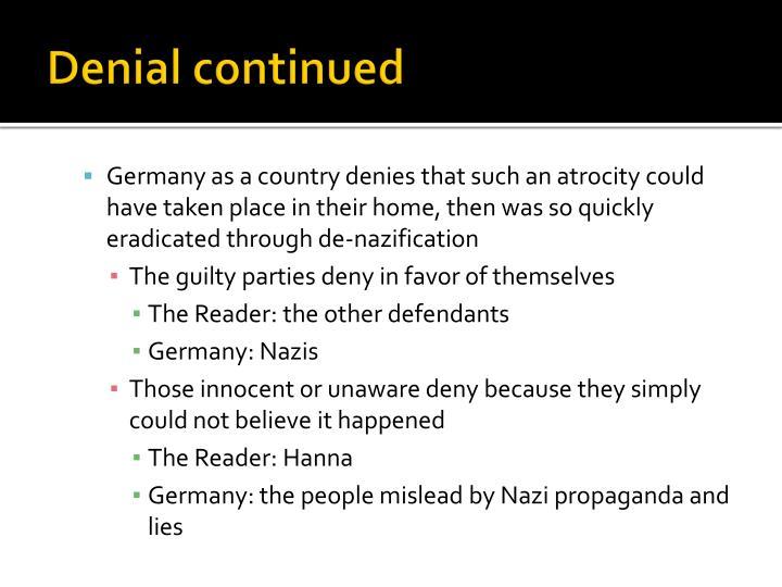 Denial continued