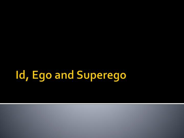 Id ego and superego