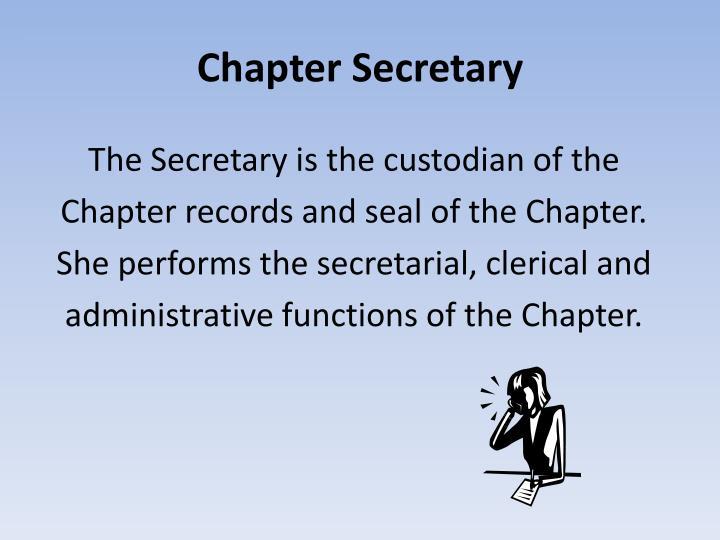 Chapter Secretary