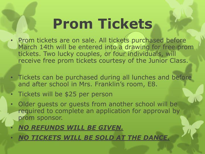 Prom Tickets