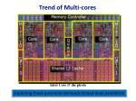 trend of multi cores