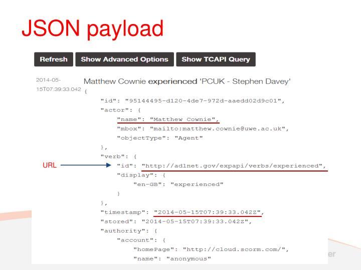 JSON payload