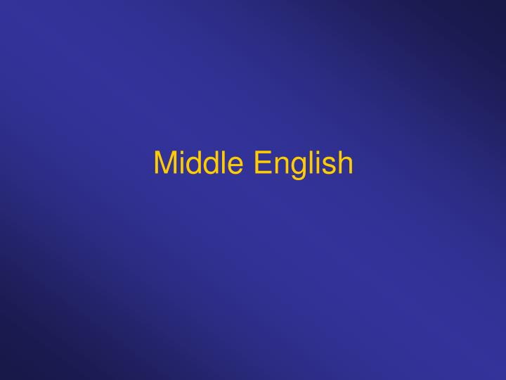 middle english n.