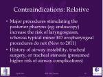 contraindications relative1