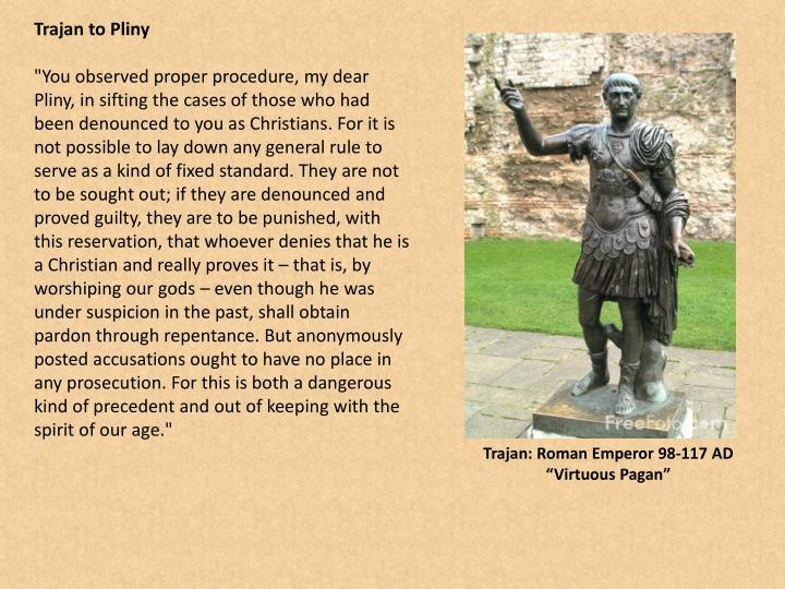 Trajan to Pliny
