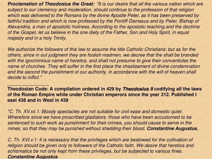 Proclamation of Theodosius the Great: