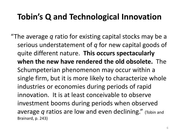 Tobin's Q and Technological Innovation