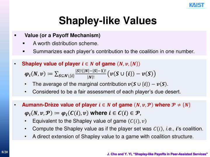 Shapley-like Values