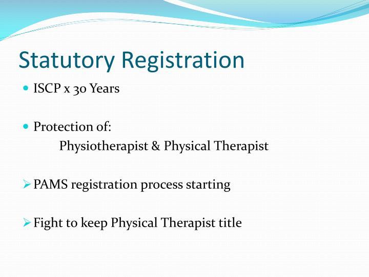 Statutory registration