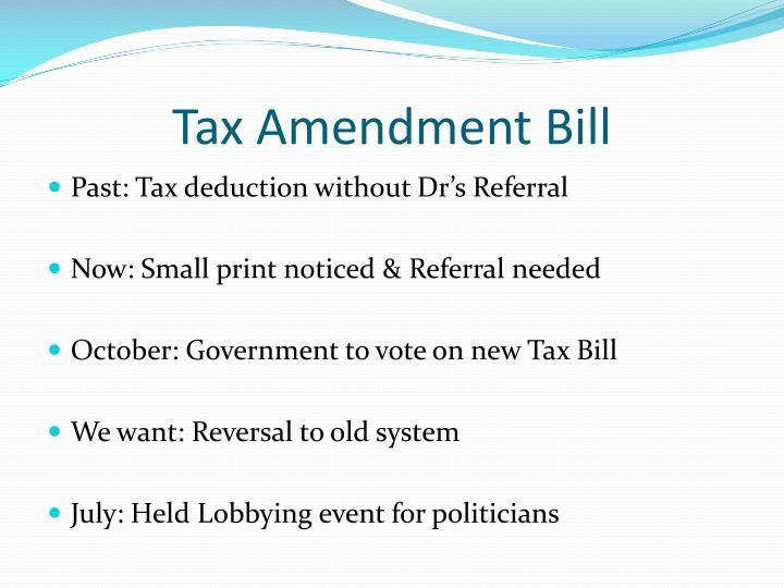 Tax Amendment Bill