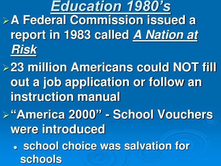 Education 1980's