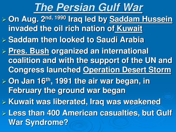 The Persian Gulf War