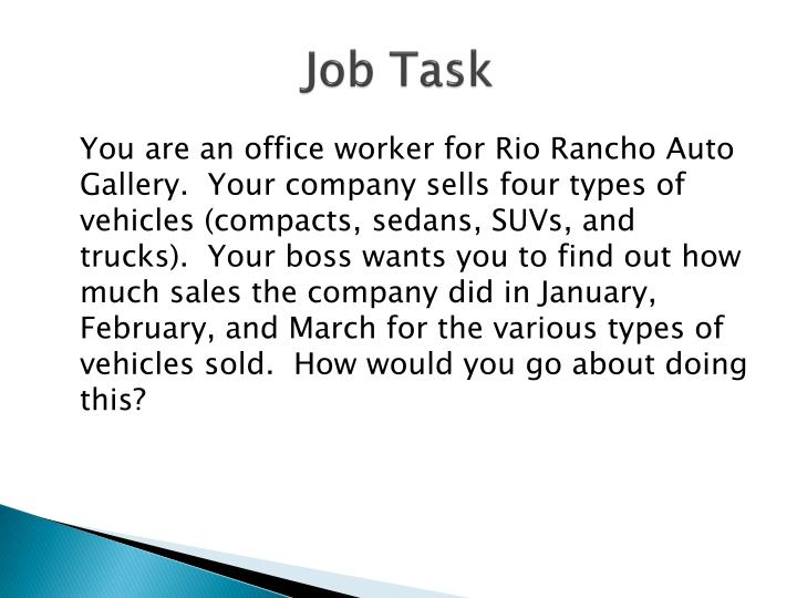 Job task