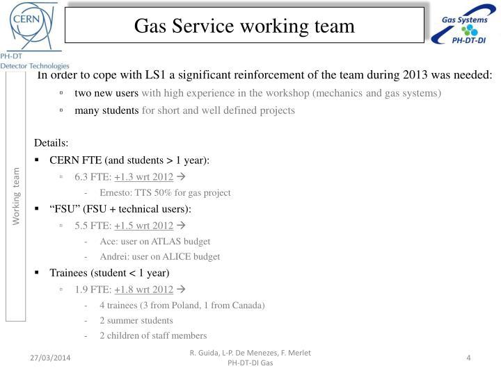 Gas Service working team