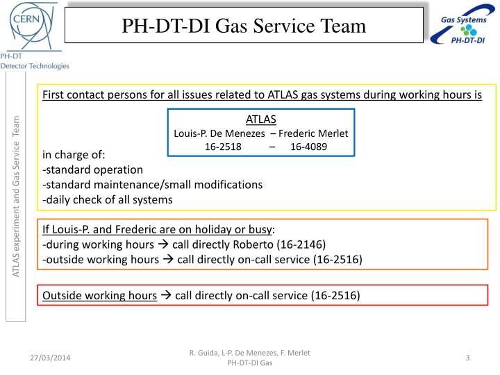 Ph dt di gas service team1
