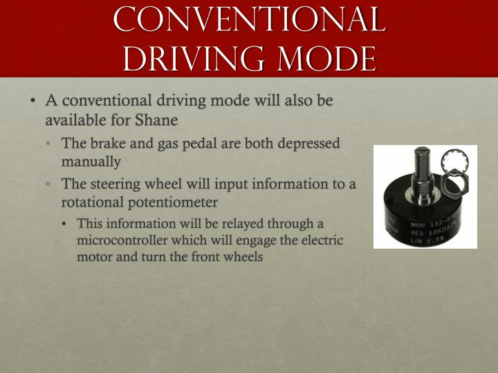 Conventional Driving Mode